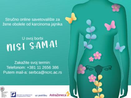 Stručno online savetovalište za žene obolele od karcinoma jajnika